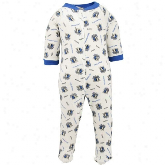 Reebok Dallas Mavericks Newborn White All More than Print Fpoted Sleeper