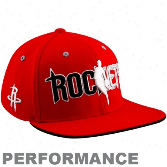 Rockets Exceed : Adidas Rockets Red Officiao Draft Day Fitted Cap