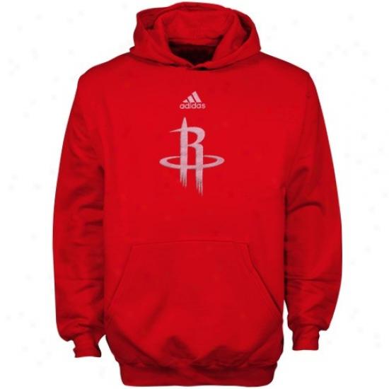 Rockets Sweatshirt : Adidas Rockets Yoth Red Primary Logo Sweatshirt