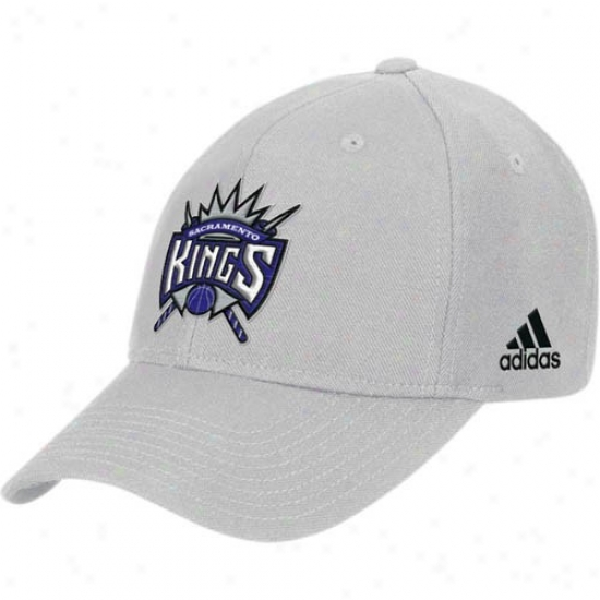 Sacramento King Cap : Adidas Sacramento King Gdey Basic Logo Cotton Adjustable Cap