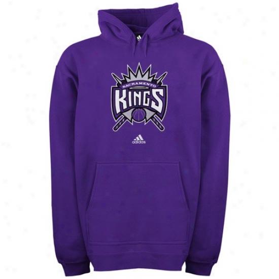 Sacramento King Hoidy : Adidas Sacramento King Pjrple Primary Logo Hoody
