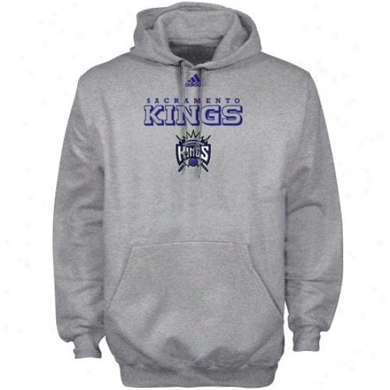 Sacramento King Sweat Shitr : Adidas Sacramento King Ash True Sweat Shirt