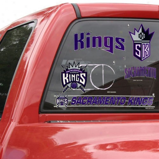 Sacramento Kings 11'' X 17'' Window Clings Sheet