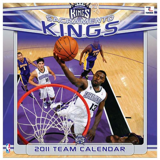 Sacramento Kings 2011 Wall Calendwr