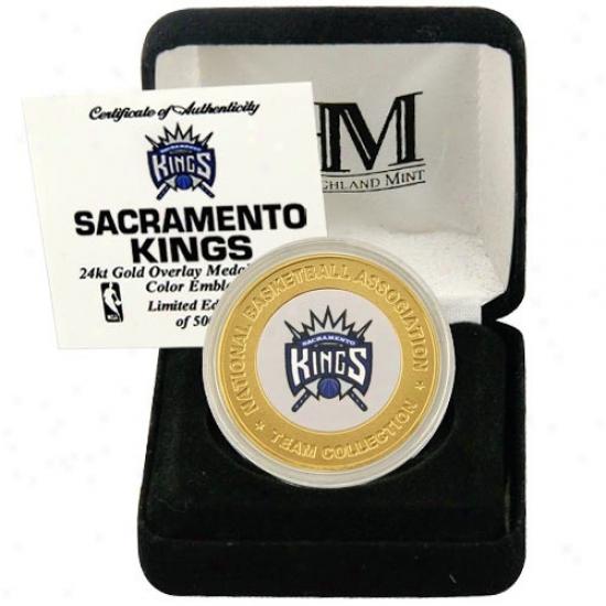 Sacramento Kings 24kt Gold Team Coin Invent