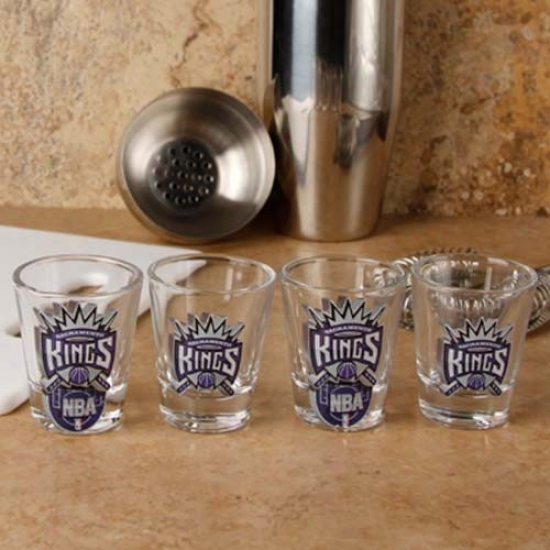 Sacramento Kings 4-pack Enhanced High Definition Design Shot Glass Set