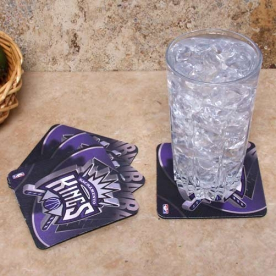 Sacramento Kings 4-pack Sublimated Logo Neoprene Coaster Set
