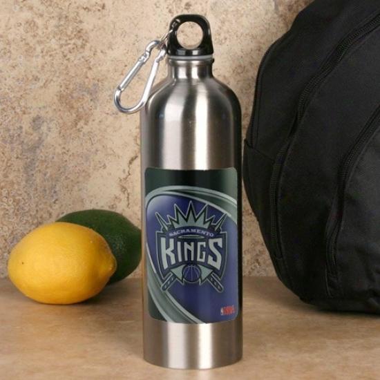 Sacramento Kings 750ml Stainless Steel Water Bottle W/ Carabiner Clip