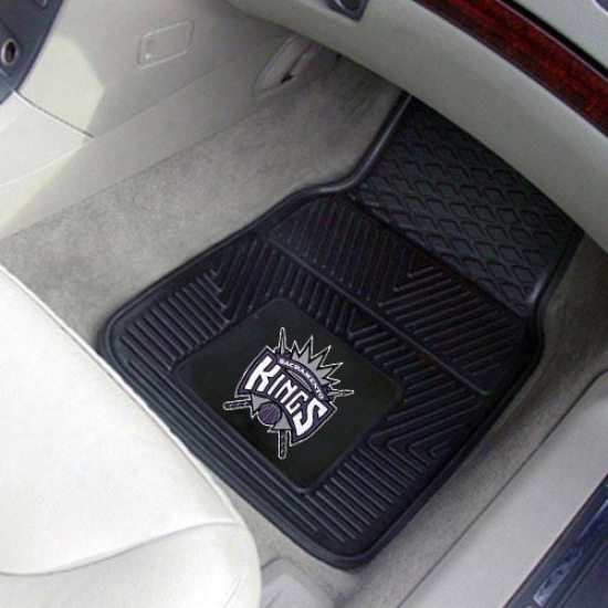Sacramento Kings Black 2-piece Vinyl Car Mat Set