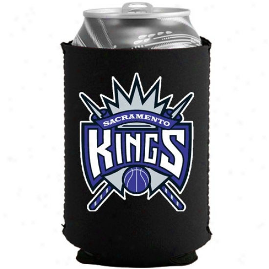 Sacramento Kings Black Collapsible Can Coolie
