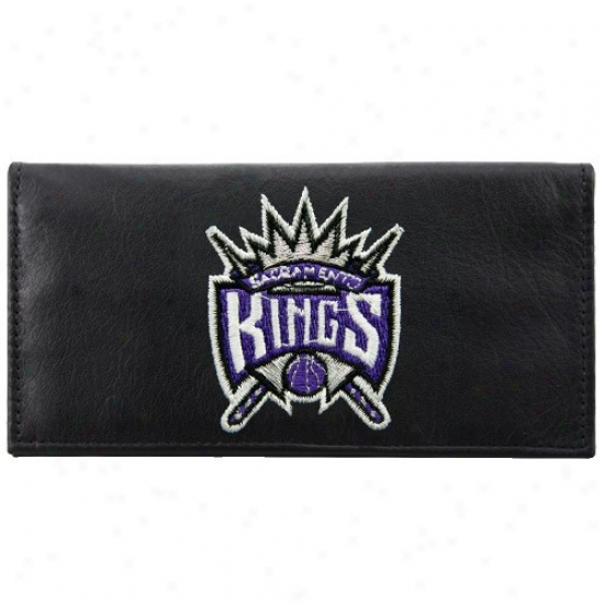 Sacramento Kings Mourning Leather Embroidreed Checkbook Overspread
