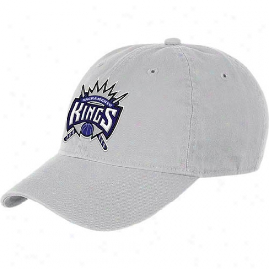 Sacramento Kings Gear: Adidas Sacramento Kings Grey Basic Logo Slouch Adjustable Hat