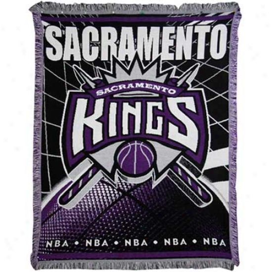 Sacramento Kings Jacquard Woven Blanket Throw