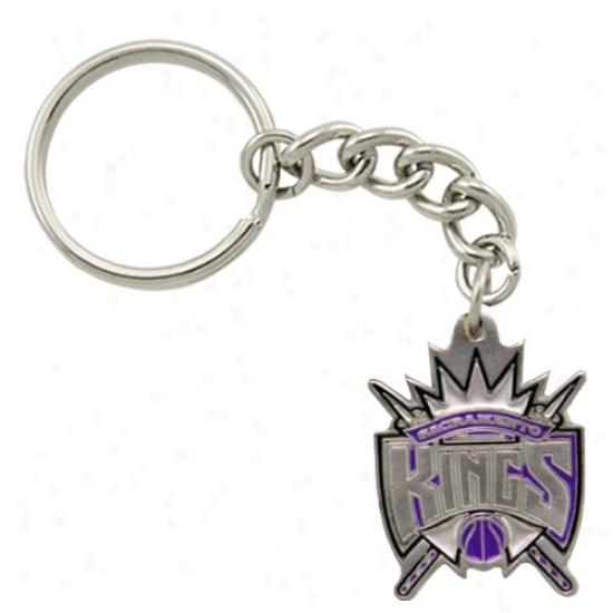 Sacramento Kings Pewter Primary Logo Keychain