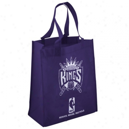 Sacramento Kings Purple Reusable Tote Bag