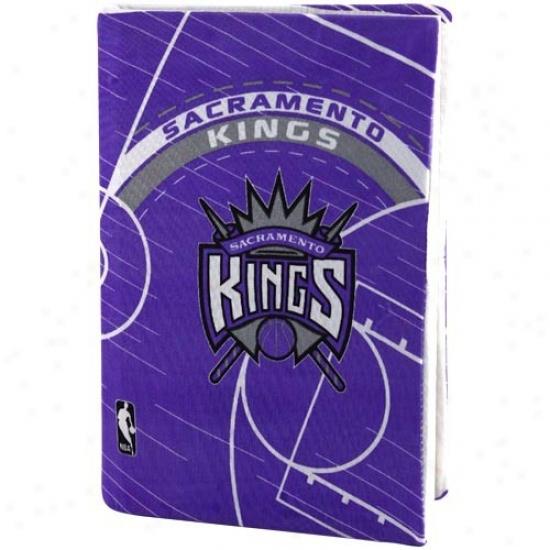 Sacramento Kings Purple Stretchable Bo0k Overspread