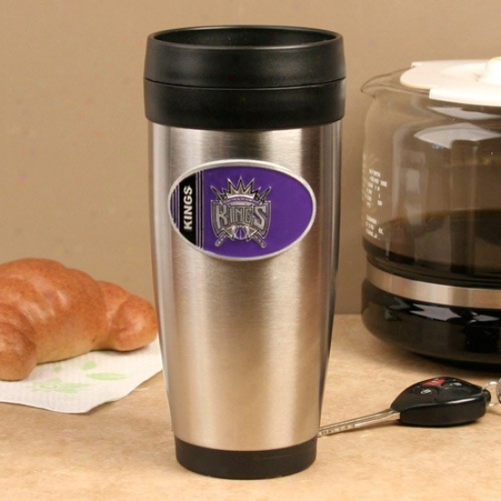 Sacramento Kings Stainless Steel Team Logo Travel Tumbler