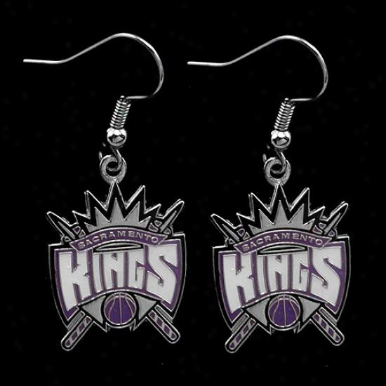 Sacramento Kings Team Loogo Dangle Earrings