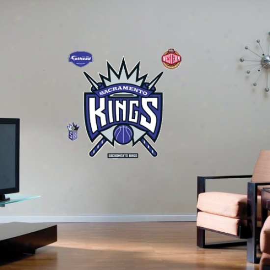 Sacramento Kings Team Logo Fathead Wall Stivker