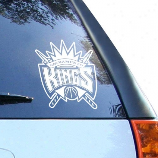 Sacramento Kings White 8'' X 8'' Logo Decal