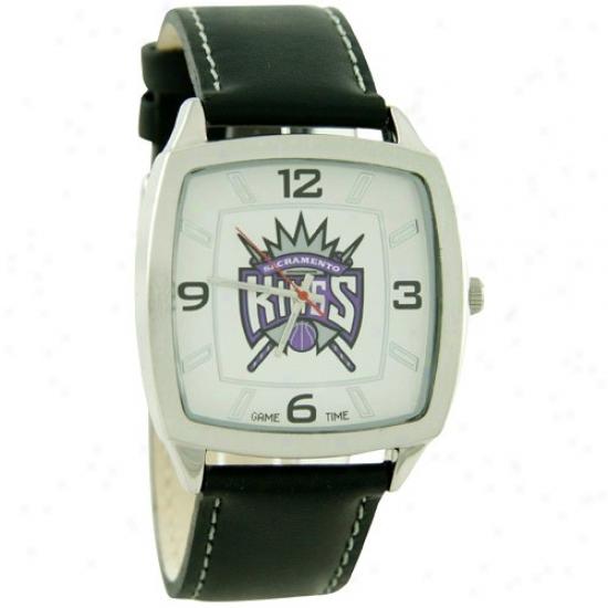 Sacramento Kings Wrist Watch : Sacramento Kings Retro Wrist Watch W/ Leather Band