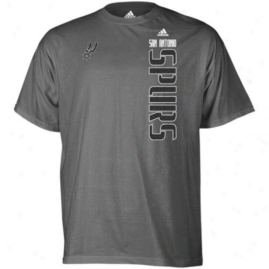 Szn Antonio Spur Apparel: Adidas San Antonio Spur Dark Hoary Soundwave T-shirt