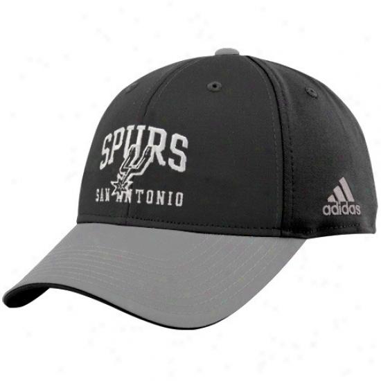San Antonio Snag Cover : Adidas San Antonio Spur Black-gray Pro Structured Adjustable Cap