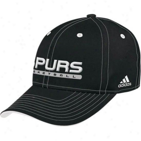 San Antonio Spur Caps : Adidas San Antonio Spur Black Official Team Pro Caps