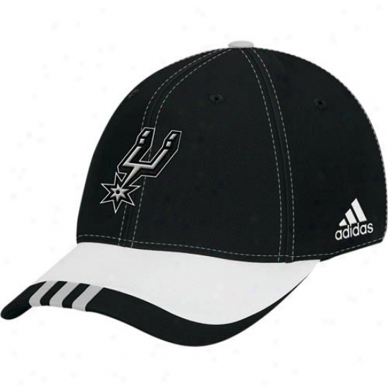 San Antonio Spur Caps : Adidas San Antonio Spur Black Youth Draft Day Flex Fit Caps