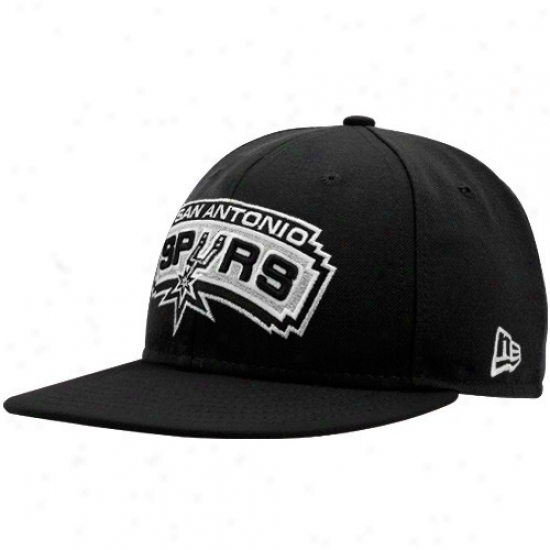 San Antonio Spur Hat : New Era San Antonio Spur Black 59fifty Fitted Hat