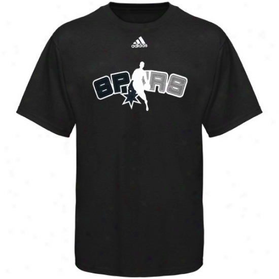 San Antonio Incitement Tees : Adidas San Antonio Spur Black 2010 Draft Dribbler Tees