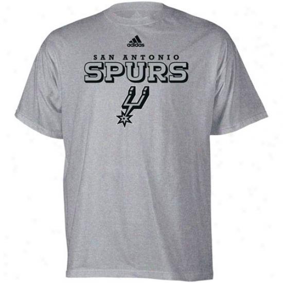 San Antonio Spur Tees : Adidas San Antonio Spur Ash Ttue Court Tees