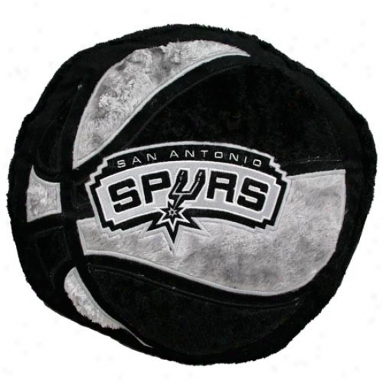 San Antonio Spurs 14-inch Team Logo Plush Pilloa