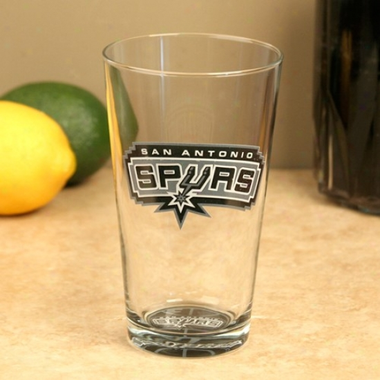 San Antonio Spurs 17oz. Bottoms Up Mixing Glass