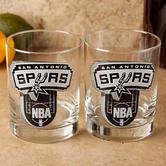 San Antonio Spurs 2-pack Enhancced Hi-def 14oz. Executive Rocks Glass