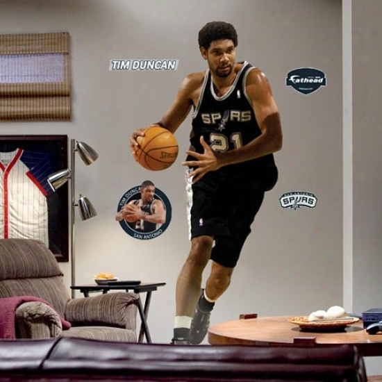 San Antonio Spurs #21 Tim Duncan Player Fathead