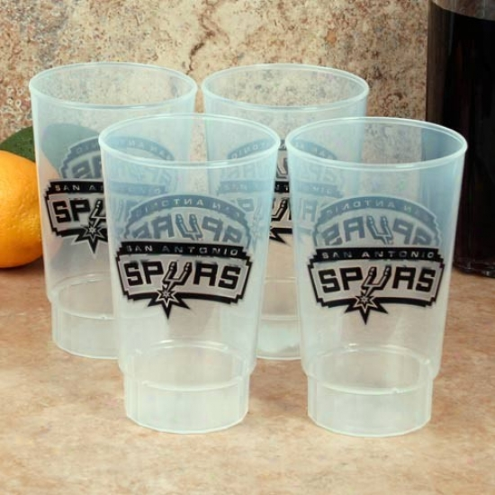 San Antonio Spurs 4-pack 16z. PlasticC ups