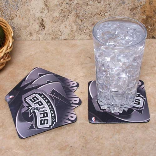 San Antonio Spurs 4-pack Sublimated Logo Neoprene Coaster Set