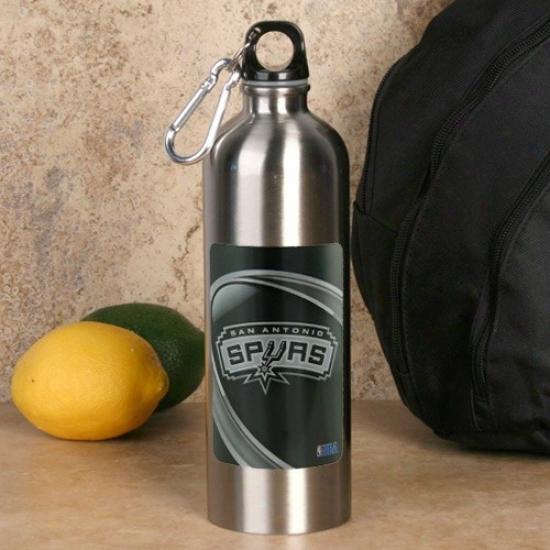 San Antonio Spurs 750ml Stainless Steel Water Bottle W/ Carabiner Clip