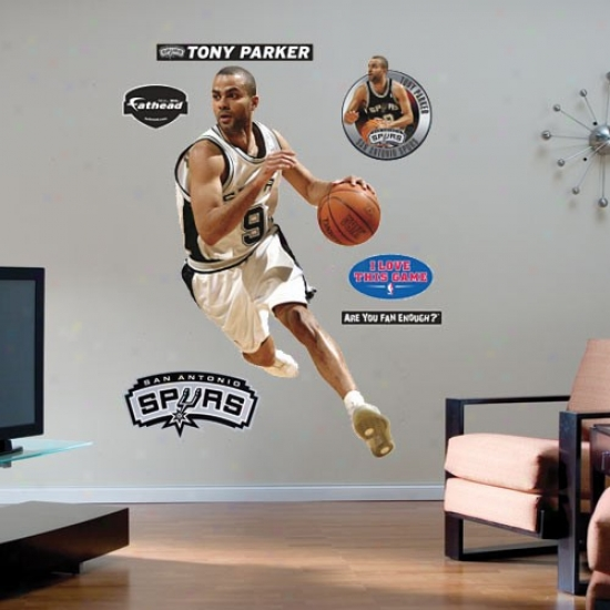 San Antonio Spurs #9 Tonu Parker Player Fathead