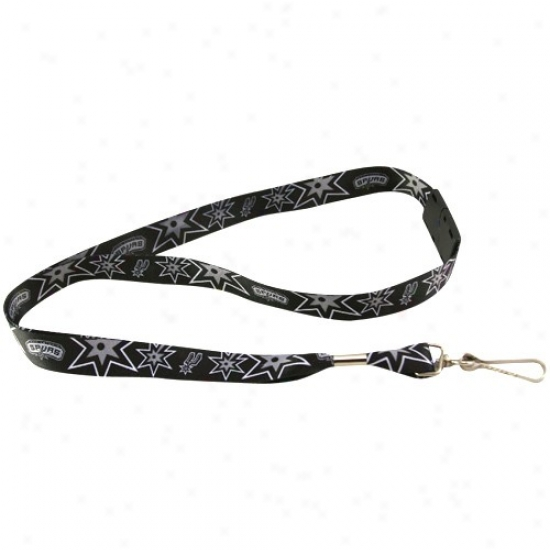 San Antonio Spurs Black Event Lanyard