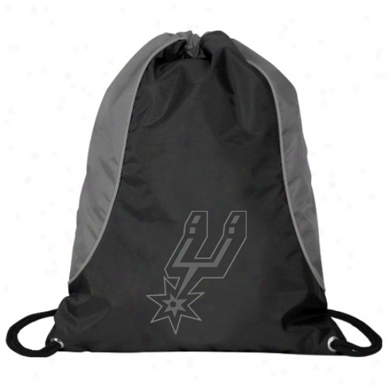 San Antnoio Spurs Black-gray Axis Drawstring Backpacj