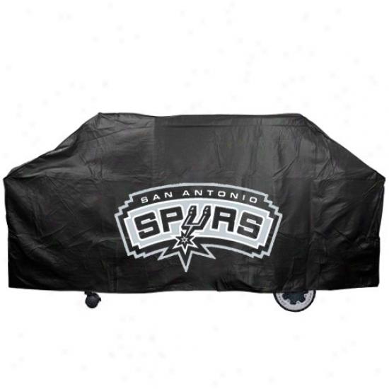 San Antonio Spurs Black Grill Cover