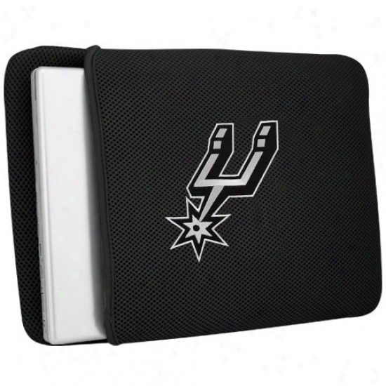 San Antonio Spurs Black Mesh Laptop Protector