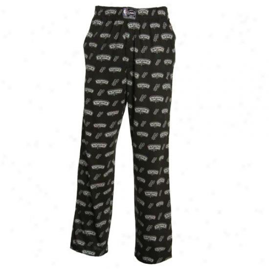 San Antonio Spurs Black My Team Pajama Pants