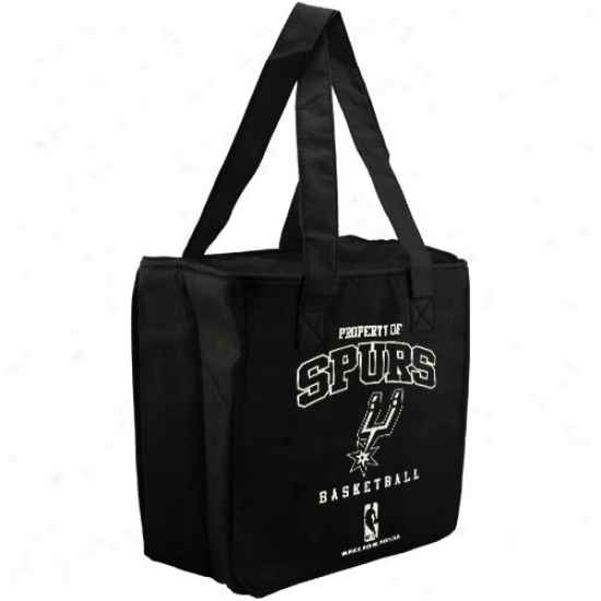 San Antonio Spurs Black Reusable Insulated Tote Bag