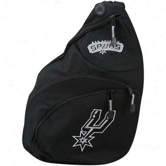 San Antonio Spurs Black Slingshot Backpack