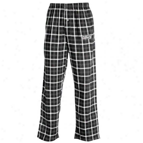 San Antonio Spurs Black Tailgate Pajama Pants