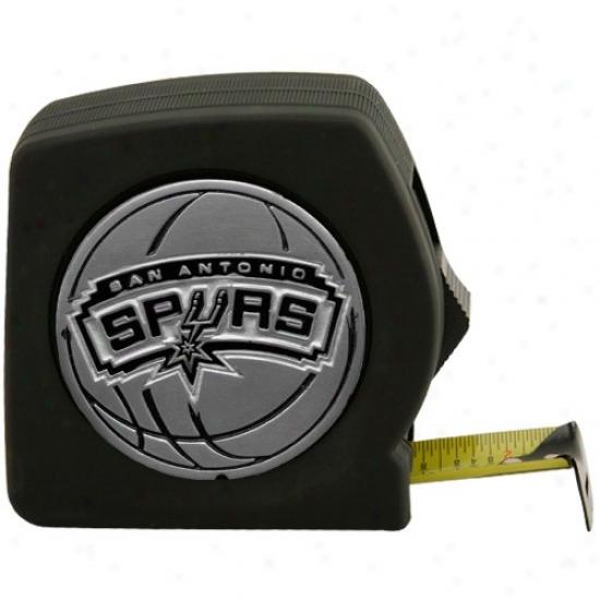 San Antonio Spurs Black Team Logo 25' Tape Measure
