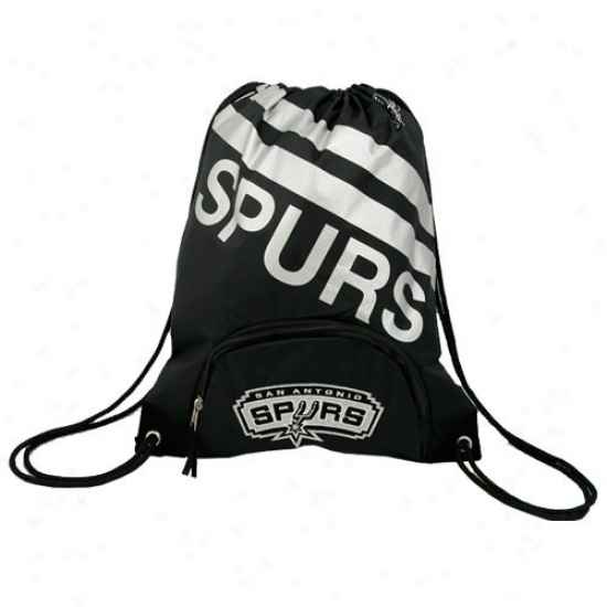 San Antonio Spurs Blackteam Logo Drrawstring Backpck